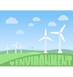 Wind turbines vector
