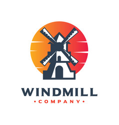 Windmill generator logo design your company vector