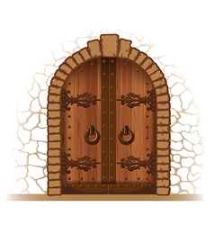 Wooden door vector
