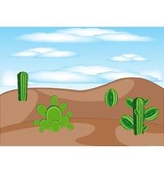 Cactuses in desert vector