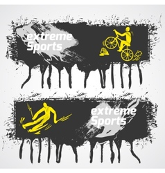Extreme sports banner vector image vector image