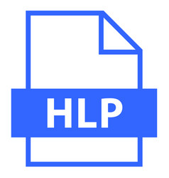 file name extension hlp type vector image