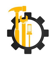 repair and maintenance symbol vector image vector image