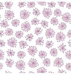 seamless pattern with pink flowers on white vector image vector image