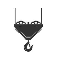 crane hook vector image vector image