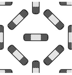 medical bandage plaster icon seamless pattern vector image