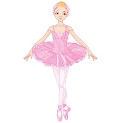 Pink Ballerina vector image vector image