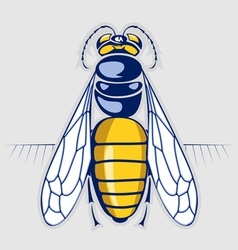 bee honey sting insect with stripes vector image