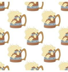 Beer mugs seamless vector image