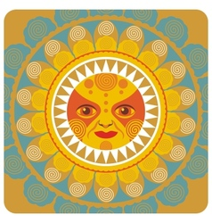 concentric decorative summer sun vector image vector image