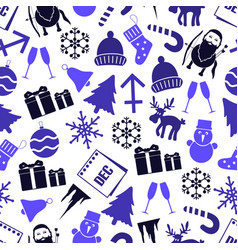 december month theme set of icons seamless vector image vector image