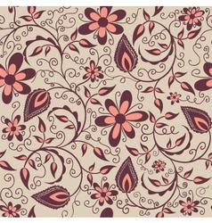 flower pattern element vector image