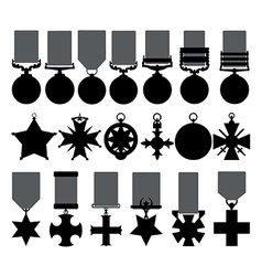Military medals vector