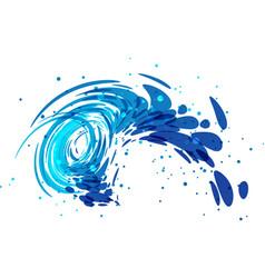 splash wave on white vector image vector image