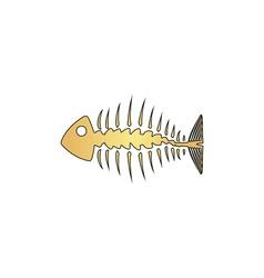 Fishbone computer symbol vector image vector image