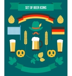 Set of Icons to the Octoberfest vector image