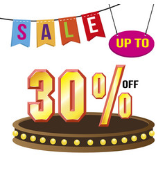 special 30 offer sale tag isolated vector image vector image