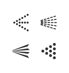 Spray icons set vector image