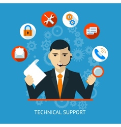 Technical support Icon vector image vector image