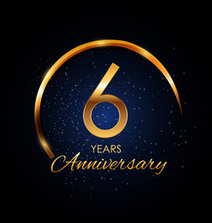 template logo 6 year anniversary vector image vector image
