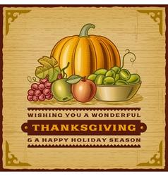 Vintage thanksgiving card vector