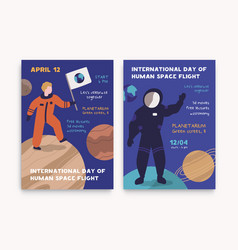 12 april international day human space flight vector