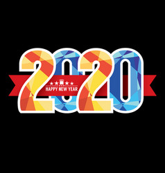 2020 label badge vector image