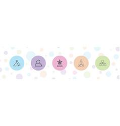 5 leadership icons vector