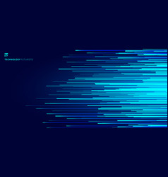 abstract glowing blue horizontal lines pattern on vector image