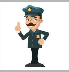 advice pointing finger up gesture policeman vector image