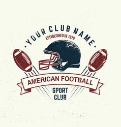 american football or rugclub badge vector image