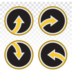 Arrow buttons - up down left right vector