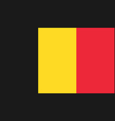belgium flag icon in flat style national sign vector image