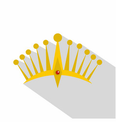 Big crown icon flat style vector