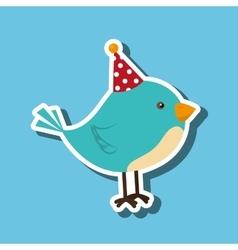 bird whit hat party design vector image