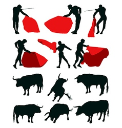 Bullfighting matadors vector