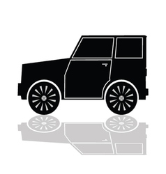 Car in black color vector