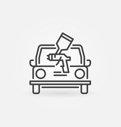 Car painting outline concept simple icon vector