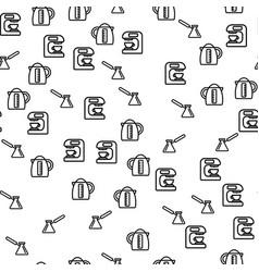 coffee brewing method seamless pattern vector image
