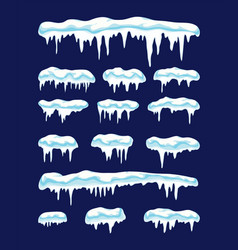 collection icicles vector image