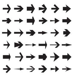 Collection of arrow symbols vector