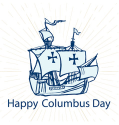 columbus day concept vector image