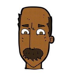 Comic cartoon annnoyed old man vector