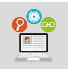 Computer technology social media concept vector