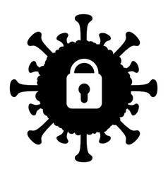 Covid lockdown - icon vector
