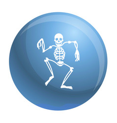 Dancing skeleton icon simple style vector