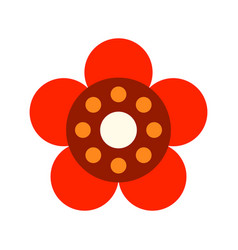 Decorative color flat icon of a flower on a white vector
