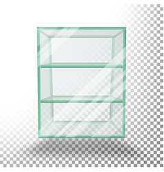 empty transparent glass box cube 3d vector image