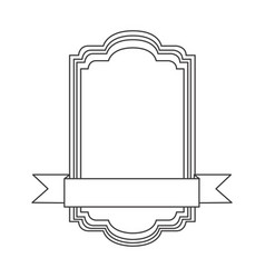 figure square emblem icon vector image