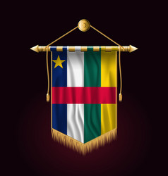 Flag central african republic festive vertical vector